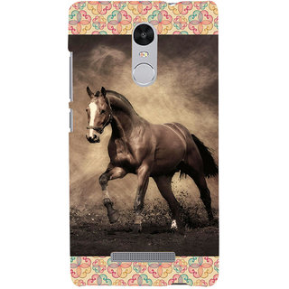 ifasho Brown Horse Back Case Cover for REDMI Note 3
