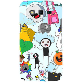 ifasho Cartoon Soft face many cartoons characters Back Case Cover for Samsung Galaxy Grand