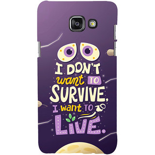ifasho life Quotes Back Case Cover for Samsung Galaxy A7 A710 (2016 Edition)