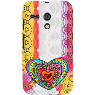 ifasho Modern Art Design Pattern with Heart and design colorful Back Case Cover for Moto G