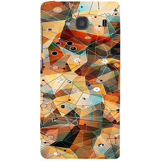ifasho Modern Theme of royal design in colorful pattern Back Case Cover for Redmi 2S