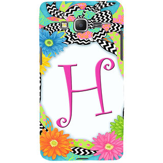 ifasho alphabet name series H Back Case Cover for Samsung Galaxy Grand Prime
