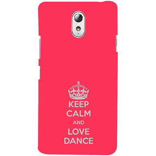 ifasho Nice Quote On Keep Calm Back Case Cover for Lenovo Vibe P1M