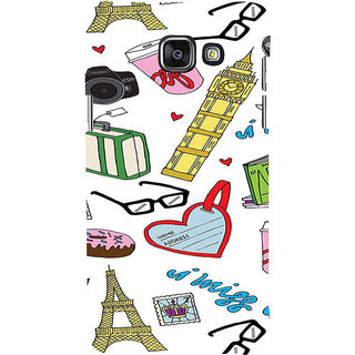 ifasho Modern Art Design Pattern camera box spec love tower Back Case Cover for Samsung Galaxy A5 A510 (2016 Edition)
