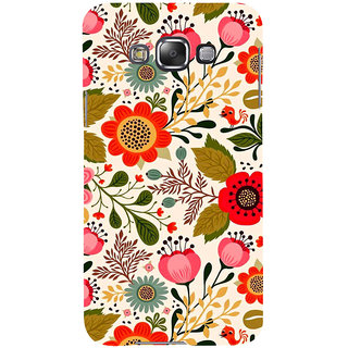 ifasho Animated Pattern colrful design flower with leaves Back Case Cover for Samsung Galaxy E7