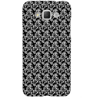 ifasho Animated Pattern design black and white flower in royal style Back Case Cover for Samsung Galaxy Grand3