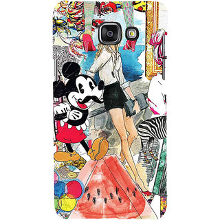 ifasho Modern Art Design Pattern girl shop car food bird Back Case Cover for Samsung Galaxy A5 A510 (2016 Edition)