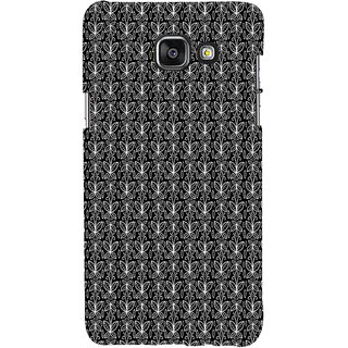 ifasho Animated Pattern black and white butterfly Back Case Cover for Samsung Galaxy A5 A510 (2016 Edition)
