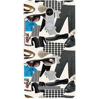 ifasho Modern Art Design Pattern man dress shoes spec belt Back Case Cover for REDMI Note 3
