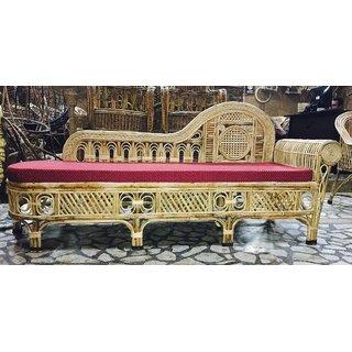Cane Settee / Diwan with Cushion