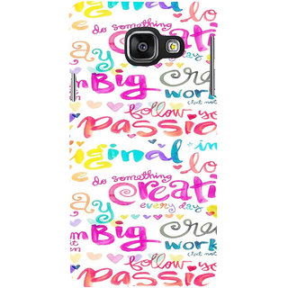 ifasho Motivatinal Quote Back Case Cover for Samsung Galaxy A3 A310 (2016 Edition)