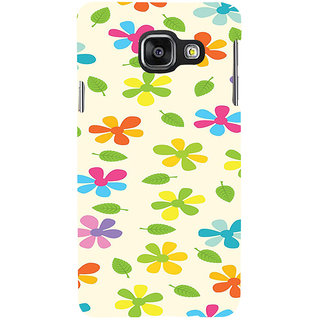 ifasho Animated Pattern flower with leaves Back Case Cover for Samsung Galaxy A3 A310 (2016 Edition)