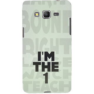 ifasho I am the one good quote on confidence Back Case Cover for Samsung Galaxy Grand Prime