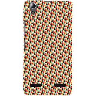 ifasho multi color 3Diangular Pattern Back Case Cover for Lenovo A6000