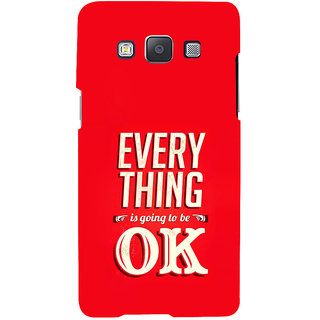ifasho everything will be ok quotes Back Case Cover for Samsung Galaxy A7