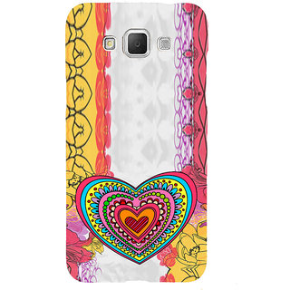 ifasho Modern Art Design Pattern with Heart and design colorful Back Case Cover for Samsung Galaxy Grand3