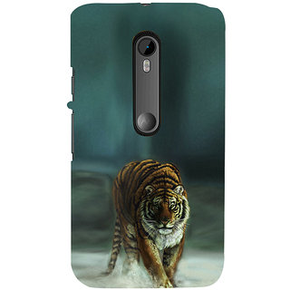 ifasho Leopard resting Back Case Cover for Moto X Force