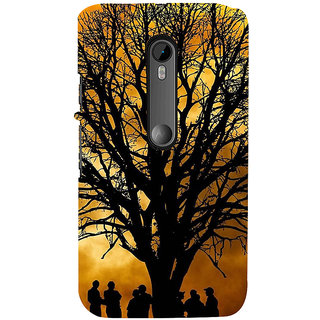 ifasho 3Dee Painting with people  Back Case Cover for Moto X Force