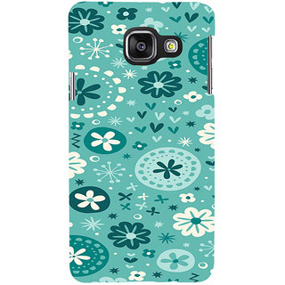 ifasho Modern Art Design animated cloth Pattern of flower Back Case Cover for Samsung Galaxy A3 A310 (2016 Edition)