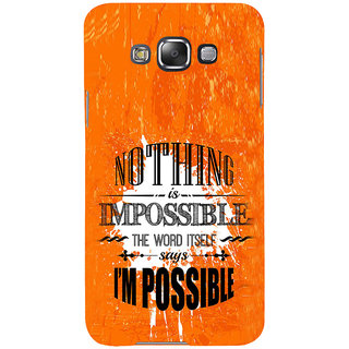ifasho Good Quote on Achivement Back Case Cover for Samsung Galaxy E7