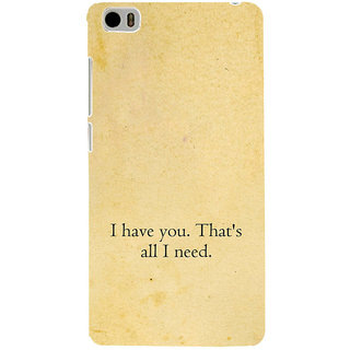 ifasho I have you thats all I need Back Case Cover for Redmi Mi5