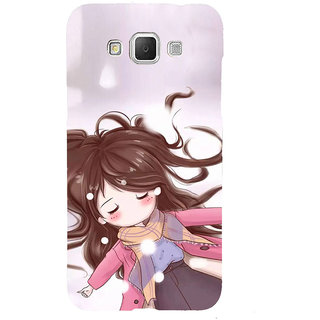 ifasho Winking Girl Back Case Cover for Samsung Galaxy Grand3