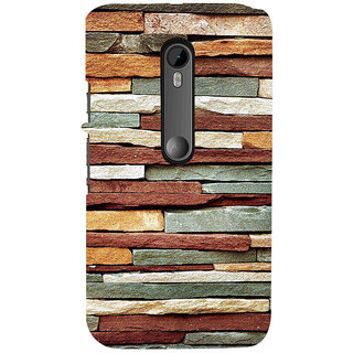 ifasho Rough Stone Graphics Back Case Cover for Moto X Force