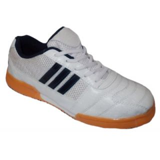 Port Mens Smash White Pu Badminton Shoes