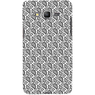 ifasho Animated Pattern design black and white flower in royal style Back Case Cover for Samsung Galaxy Grand Prime