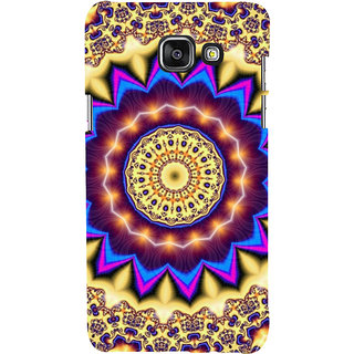 ifasho Animated Pattern design colorful flower in royal style Back Case Cover for Samsung Galaxy A7 A710 (2016 Edition)