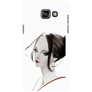 ifasho Chinese Girl Back Case Cover for Samsung Galaxy A7 A710 (2016 Edition)