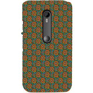 ifasho Animated Pattern design colorful flower in white background Back Case Cover for Moto X Force
