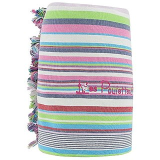 Kikoy Beach Towel Cotton Stripe - Color Pistachio Green