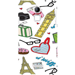 ifasho Modern Art Design Pattern camera box spec love tower Back Case Cover for Coolpad Note 3
