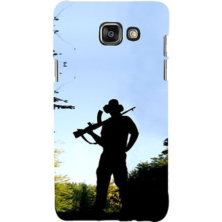 ifasho Army man With Gun Back Case Cover for Samsung Galaxy A7 A710 (2016 Edition)