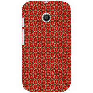 ifasho Modern Art Design Pattern with Lot Of small heart Back Case Cover for MOTO E