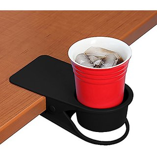 Drinking Cup Holder Clip - Home Office Table Desk Side Huge Clip Water Drink Beverage Soda Coffee Mug Holder Cup Saucer