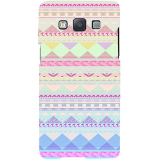ifasho multi color 3Diangular Pattern Back Case Cover for Samsung Galaxy A7