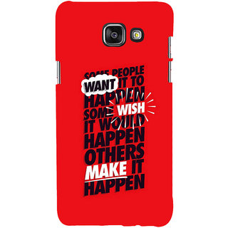 ifasho quote on inner Power Back Case Cover for Samsung Galaxy A7 A710 (2016 Edition)