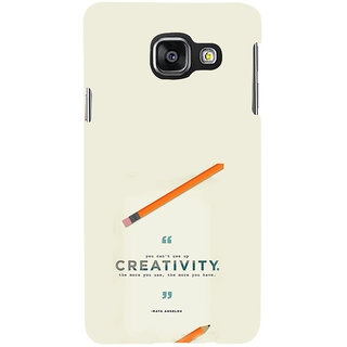 ifasho quotes on creativity Back Case Cover for Samsung Galaxy A3 A310 (2016 Edition)