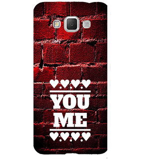 ifasho Quote On Love you and me Back Case Cover for Samsung Galaxy Grand Max