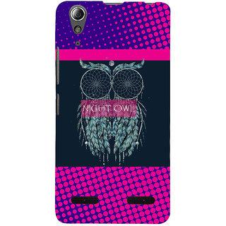ifasho Stylish Owl Back Case Cover for Lenovo A6000