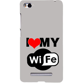 ifasho I love my wife quotes Back Case Cover for Redmi Mi4i