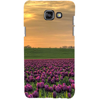 ifasho green Grass and purple flower at sunset Back Case Cover for Samsung Galaxy A7 A710 (2016 Edition)