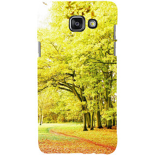 ifasho Green 3Dees with red leaves on the road Back Case Cover for Samsung Galaxy A7 A710 (2016 Edition)