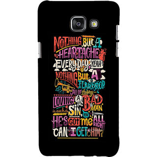 ifasho Love Quotes Back Case Cover for Samsung Galaxy A7 A710 (2016 Edition)