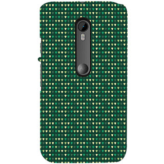 ifasho Modern Art Design Pattern with Lot Of small heart Back Case Cover for Moto X Force