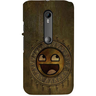 ifasho Smilee on wood Back Case Cover for Moto X Force