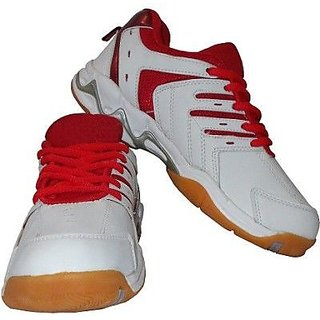 Port Mens Red Spark PU Badminton Shoes
