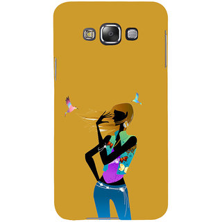 ifasho Girl with Bird Back Case Cover for Samsung Galaxy E7
